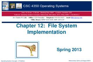 Chapter 12:  File System Implementation