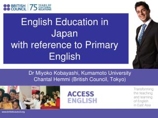 English Education in Japan with reference to Primary English