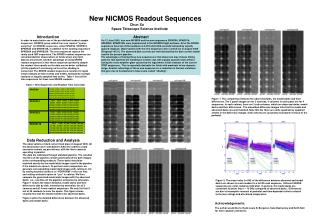 New NICMOS Readout Sequences                                                   Chun Xu