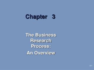 The Business Research Process:  An Overview