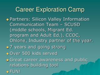 Career Exploration Camp