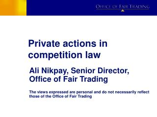 Private actions in competition law