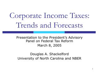 Corporate Income Taxes: Trends and Forecasts