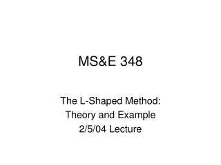 MS&E 348
