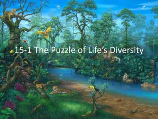 15-1 The Puzzle of Life's Diversity