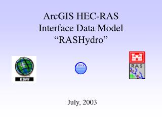 ArcGIS HEC-RAS  Interface Data Model �RASHydro�