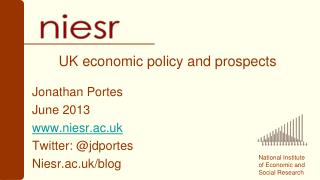 UK economic policy and prospects