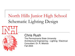 North Hills Junior High School Schematic Lighting Design