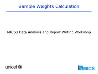 Sample Weights Calculation