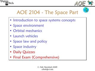 AOE 2104 - The Space Part