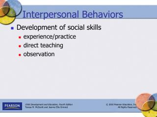 Interpersonal Behaviors