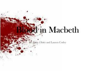 Blood in Macbeth