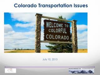 Colorado Transportation Issues