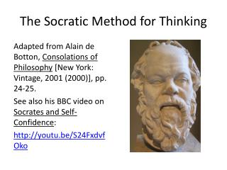 The Socratic Method for Thinking