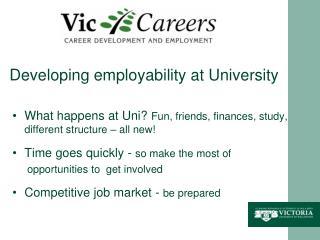 Developing employability at University