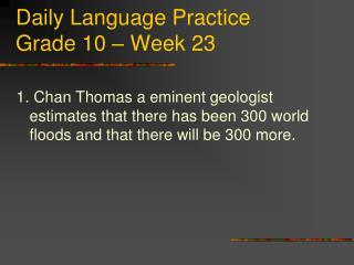 Daily Language Practice Grade 10 � Week 23