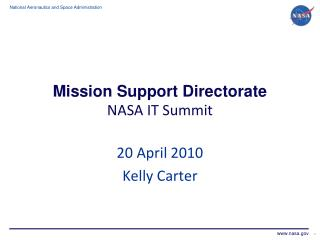 Mission Support Directorate NASA IT Summit