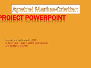 Proiect  PowerPoint