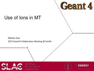 Use of Ions in MT