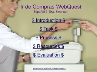 Ir de Compras WebQuest Espa ñ ol 2  Sra. Swenson