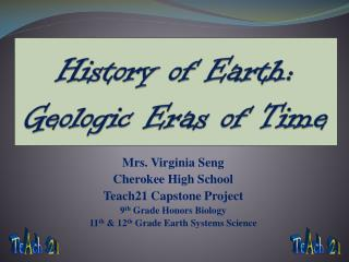 History of Earth: Geologic Eras of Time