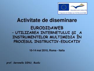 prof. Serenella DINU, Buzău