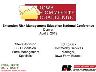 Extension  Risk Management Education National Conference Denver April 3, 2013