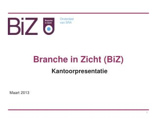 Branche in Zicht (BiZ)