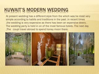 kuwait's  modern wedding