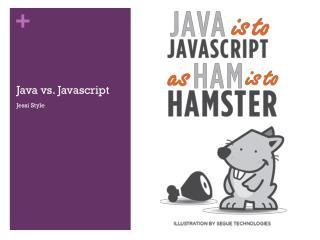 Java vs.  Javascript