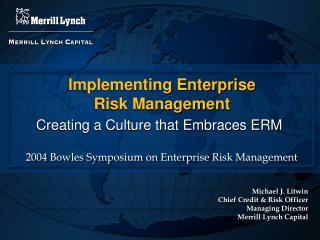 Implementing Enterprise  Risk Management