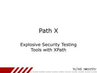 Path X