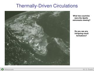 Thermally-Driven Circulations