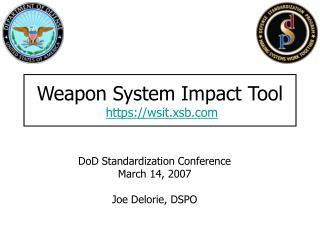 Weapon System Impact Tool https://wsit.xsb