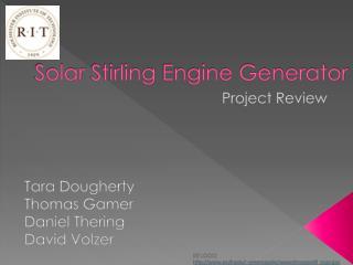 Solar  Stirling  Engine Generator