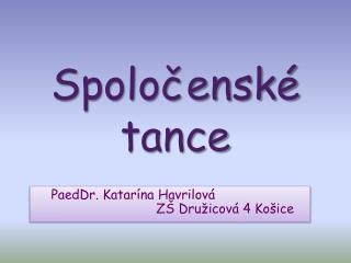 Spoločenské tance