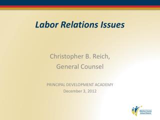 Labor Relations Issues