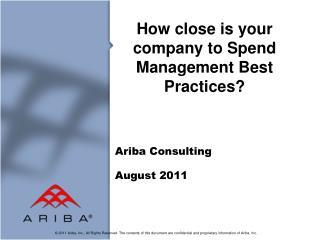 Ariba Consulting August  2011