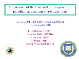 Breakdown of the Landau-Ginzburg-Wilson paradigm at quantum phase transitions