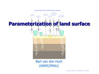 Parameterization of land surface