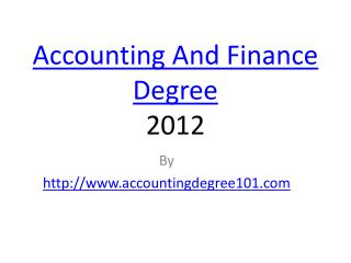 Accounting Vs Finance Degree