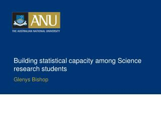 Building statistical capacity among Science research students