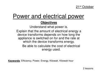 Power and electrical power