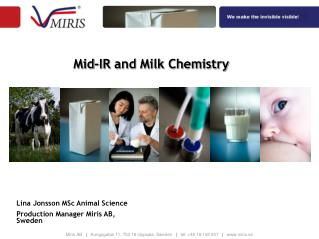 Mid-IR and Milk Chemistry