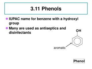 3.11 Phenols