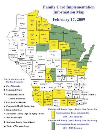 ■  Care Wisconsin ◙  Community Care    *   Community Care of          Central Wisconsin
