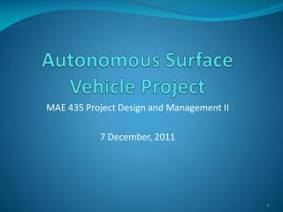Autonomous Surface Vehicle Project