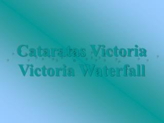 Cataratas Victoria Victoria Waterfall