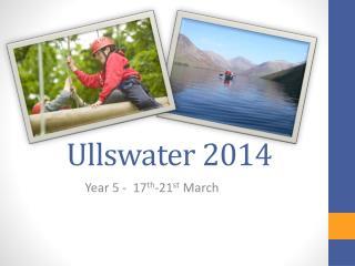 Ullswater  2014