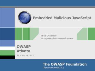 Embedded Malicious JavaScript